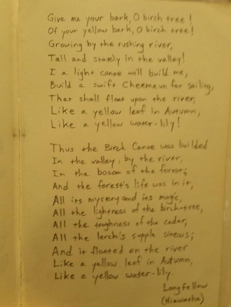 Hiawatha stanzas
